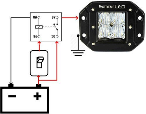 How to Wire a Relay for Off-Road LED Lights | Wiring Up Led Light Bar Diagram |  | Extreme LED