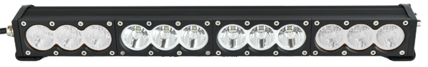 "X6 10W Series 2D Amber White 22"" Single Row LED Light Bar"