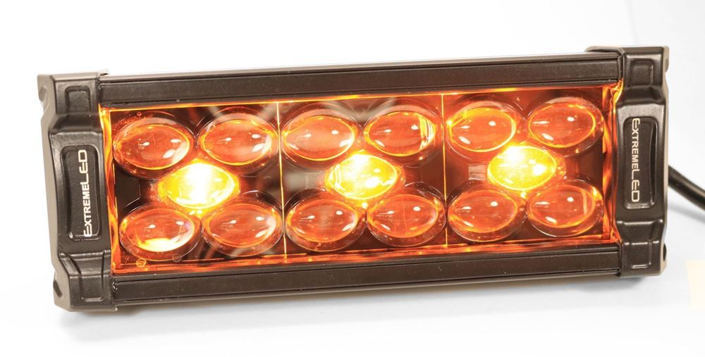 """Picture of X8 Amber and White 8"""" Dual Row LED Light Bar (All Flood)"""