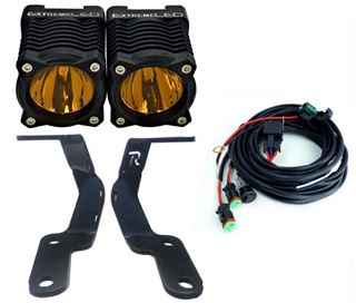 """Picture of 4Runner 2010-2018 Stackerz  2"""" LED Light (Spot Amber) with Ditch Brackets"""
