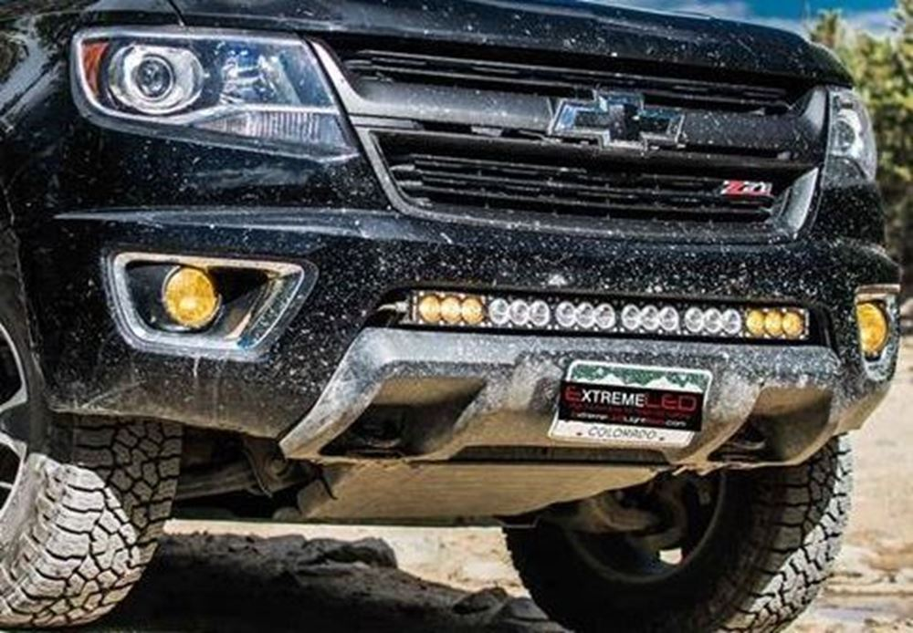"""Picture of 30"""" Single Row Hidden Bumper Mount for Chevy/GMC 2015-2018"""