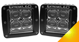 "Extreme Series 3"" - Spot Beam - Amber Pods (Pair)"