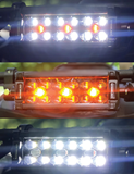 X8 Amber and White LED Light Bar Lighting Options