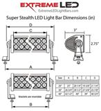 """Picture of Super Stealth 20"""" LED Light Bar (Combo - Spot and Flood) - Discounted"""