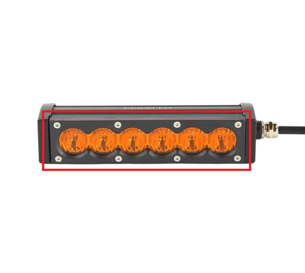 Replacement Face Plate for the X6S Series LED Light Bars